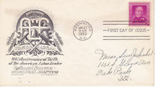 POSTAL HISTORY - FIRST DAY COVER FDC 1950 SAMUEL GOMPERS LABOR LEADER STAEHLE #1