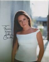 10 x 8 HOLLY MARIE COMBS (CHARMED) - HAND SIGNED - DEDICATED - AFTAL COA