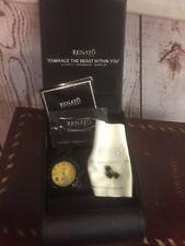 Renato 46mm Diamond Beast Swiss Quartz Black IP Stainless Steel Bracelet Watch