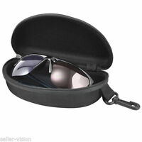 Black Sunglasses Reading Glasses Carry Case Bag Hard Zipper Box Travel Pack Chic