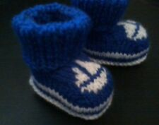 NAUTICAL DECK BOOTEES / BOOTIES, VERY EASY KNITTING PATTERN, 3 SIZES, 3 DESIGNS