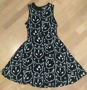 Original KILLSTAR Azrael Skater Sphynx Cat Kleid Dress Size S WGT Gothic