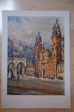 Theatinerkirche  - 10 Farben  Kupfertiefdruck -- nach - Rudolf Trickl -München