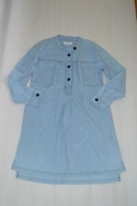 Isabel Marant Etoile Anise Chambray Blue Button Up Shirt Dress Womens EU38 UK 10