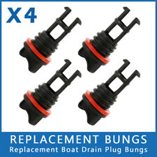 4x REPLACEMENT BUNGS ONLY - MARINE/BOAT DRAIN BUNG PLUGS STANDARD COARSE THREAD