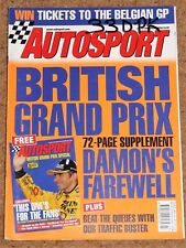 Autosport 8/7/99* BRITISH GP PREVIEW - 20 YEARS of WILLIAMS - 306 GTI 6 POSTER