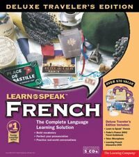 Learn to Speak French Language CDs w/ Fodors France Travel Guide, DVD, Ref Book