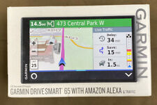 Garmin DriveSmart 65 Automotive Mountable GPS Navigator with Amazon Alexa...NEW!