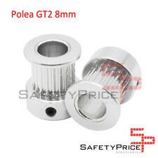 POLEA GT2 20 DIENTES 8MM BORE ALUMINIO PULLEY IMPRESORA 3D REPRAP SP