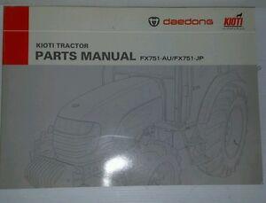 Kioti Daedong Tractor FX751 Parts Manual