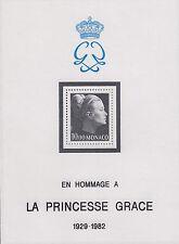 Monaco Nº 1577 ** (BL. 22 **) mort de princesse patricia (Gracia)/princesse Grace