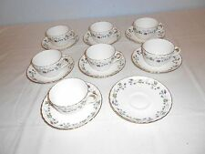 Minton ~ Dryden ~ Flat Cups and Saucers (6 Sets) ~ England Bone China