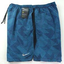 Nike Para Hombre Shorts de entrenamiento Azul Negro XXL Challenger