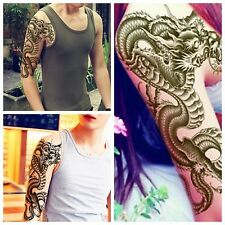 3D Black Dragon Removable Waterproof Temporary Tattoo Arm Leg Body Art Sticker
