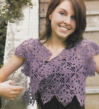 Crochet Pattern ~ LADIES PINWHEELS SHRUG ~ Instructions