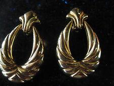 Vintage Goldone Gold Stud with Swinging Hoop Drop Clip Earrings
