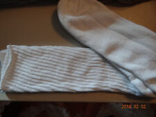 One pair white crew socks-Size 13-14-Made in USA
