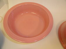 Fiesta Pottery Nappy Bowl Rose Fiestaware Serving Bowl Contemporary
