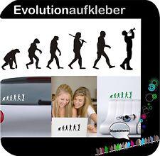 Trompete Blasinstrumen Evolution Wandaufkleber Sticker Wandtattoo Aufkleber W424