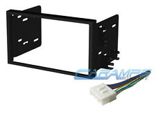 CAR STEREO RADIO DOUBLE 2 DIN DASH INSTALLATION MOUNTING TRIM KIT W WIRE HARNESS