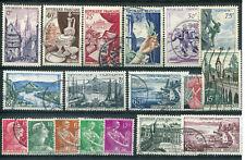 FRANCE - LOT timbres années '50 - oblitérés, TB