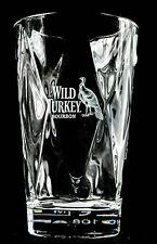 "Wild Turkey Bourbon Whisky, Relief Longdrinkglas, Kristallglas, ""Vidivi"""