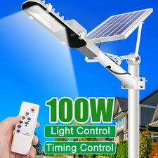 100W Wall Street Solar Light IP65 Light Control+Remote Outdoor Garden Flood Lamp