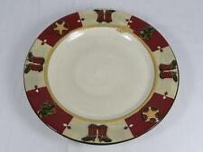 "SONOMA Christmas Plates ""Happy Trails Holiday"", Lot-2, 11"", GC"