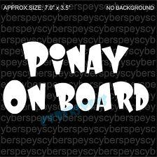 Pinay On Board Art Design Car Vinyl Sticker Decals