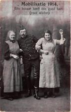 CPA Mobilisatie 1914 Een huzaar heeft een goed hart MILITAIRE (731289)
