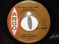 Etta James & Sugar Pie DeSanto Argo 5519 Promo Make Myself Clear/Down the Line