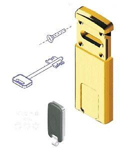defender magnetico MG220 per serrature a doppia mappa oro lucido pvd