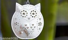 METAL OWL BIRD HANGING TEALIGHT TEA LIGHT CANDLE HOLDER LANTERN HOME GARDEN GIFT