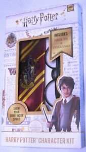 Harry Potter Gryffindor Tie and Glasses - Character Kit Costume Accessories New!