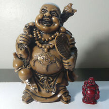 """7.5"""" Tall Chinese Style Happy Giant Laughing Buddha Statue Brown / Beige - 4 lbs"""