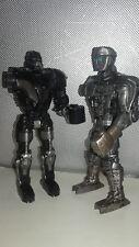 "Real Steel ATOM & ZEUS 6.5"" Action Figures Jakks 2011 **DAMAGE** MISSING ARMS"