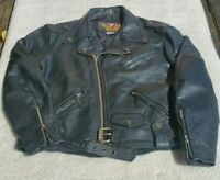 Vintage Harley Davidson Cruiser Men's Authentic Quilted leather Jacket XL