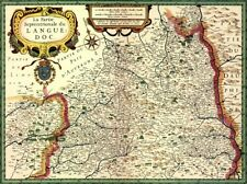 Reproduction carte ancienne - Languedoc Septentrional 1623