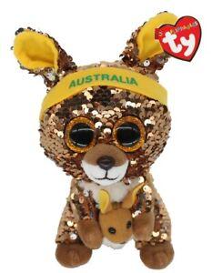 NEW Beanie Boo Flippables Small Matilda Kangaroo Kids Children Toy AU