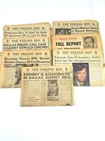 John F Kennedy (1963) and RFK (1968) News Papers of assassination Must See!!