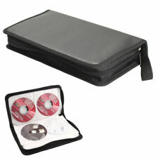 80 Disc CD Holder DVD Case Storage Wallet VCD Organizer Faux Leather Zipper Bag