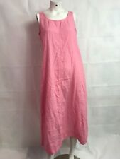 J. Jill Pink Linen Maxi Dress SZ S