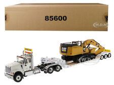 INTERNATIONAL HX520 W/TRAILER & CAT 349F L XE 2PC SET 1/50 DIECAST MASTERS 85600
