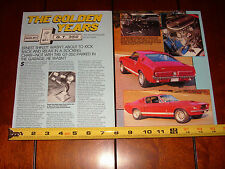 1967 SHELBY GT-350 MUSTANG - ORIGINAL 1988 ARTICLE