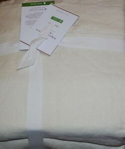 POTTERY BARN Belgian Flax Linen King Sheets 4 pc Set NEW - Classic Ivory
