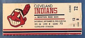 ⚾ 1983 Carl  Yastrzemski Full Ticket Last HR #452 Life Boston Red Sox