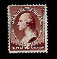 US 1881 Sc 210  2 cent  WASHINGTON  Mint NG   -  Vivid Color - Centered - GEM