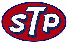 "STP OVAL DIGITALLY CUT OUT VINYL STICKER. 5"" X 3"" OVERALL SIZE."