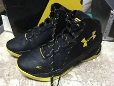 USED MENS Under Armour Curry 2 BATMAN BLACK YELLOW 1259007 006 STEPH CURRY SZ 11