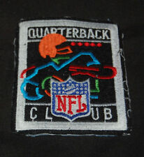 "NFL Quarterback Club Logo 1990's Embroidered Patch 4 1/2"" x  2 3/4"" Football Fan"